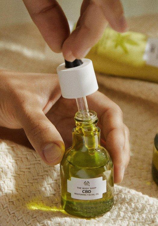 Възстановяващо CBD олио за лице