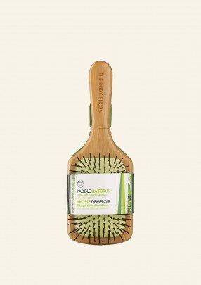 Голяма бамбукова четка за коса