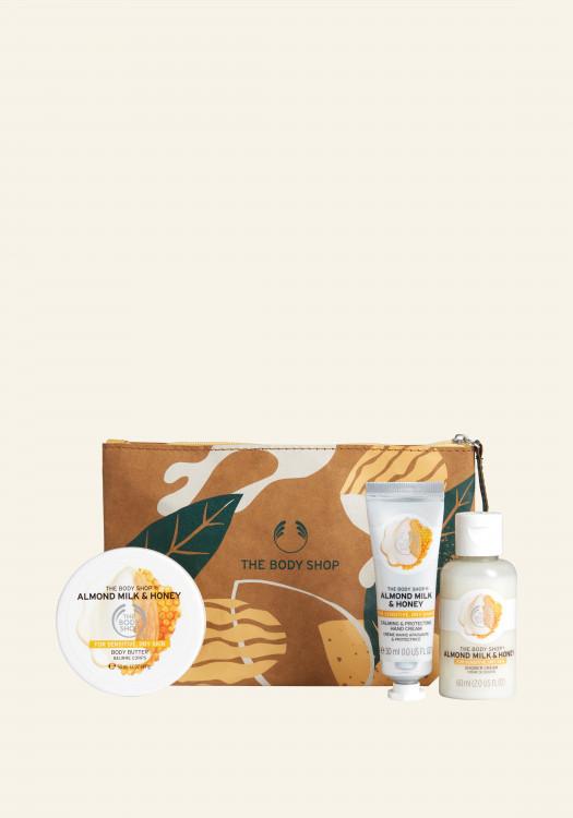Комплект Бадемово мляко и мед в чантичка AR21