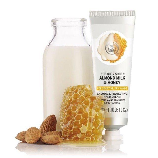 Успокояващ крем за ръце Бадемово мляко и мед