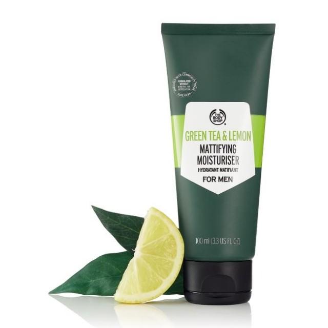 Матиращ крем за лице за мъже Зелен чай и лимон
