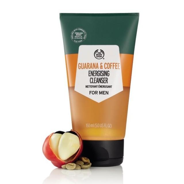 Почистващ гел за лице за мъже Гуарана и кафе