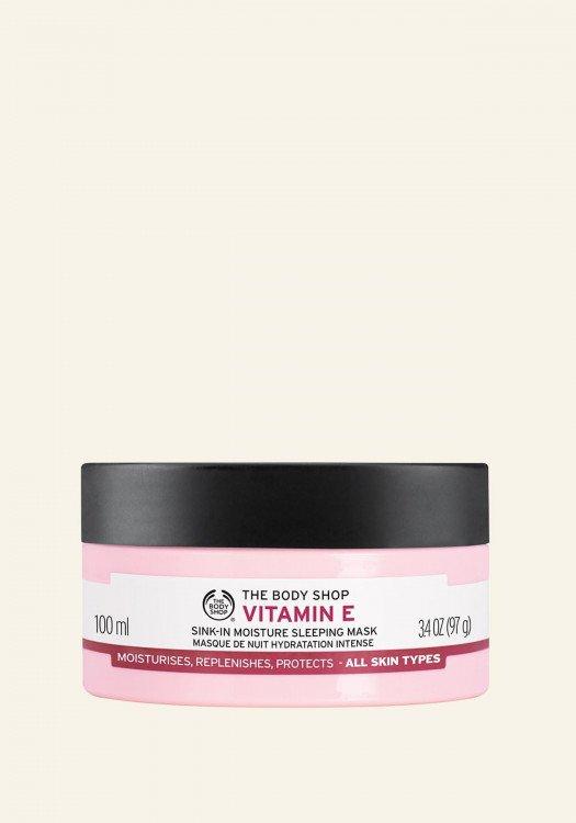 Нощна хидратираща маска за лице Витамин Е